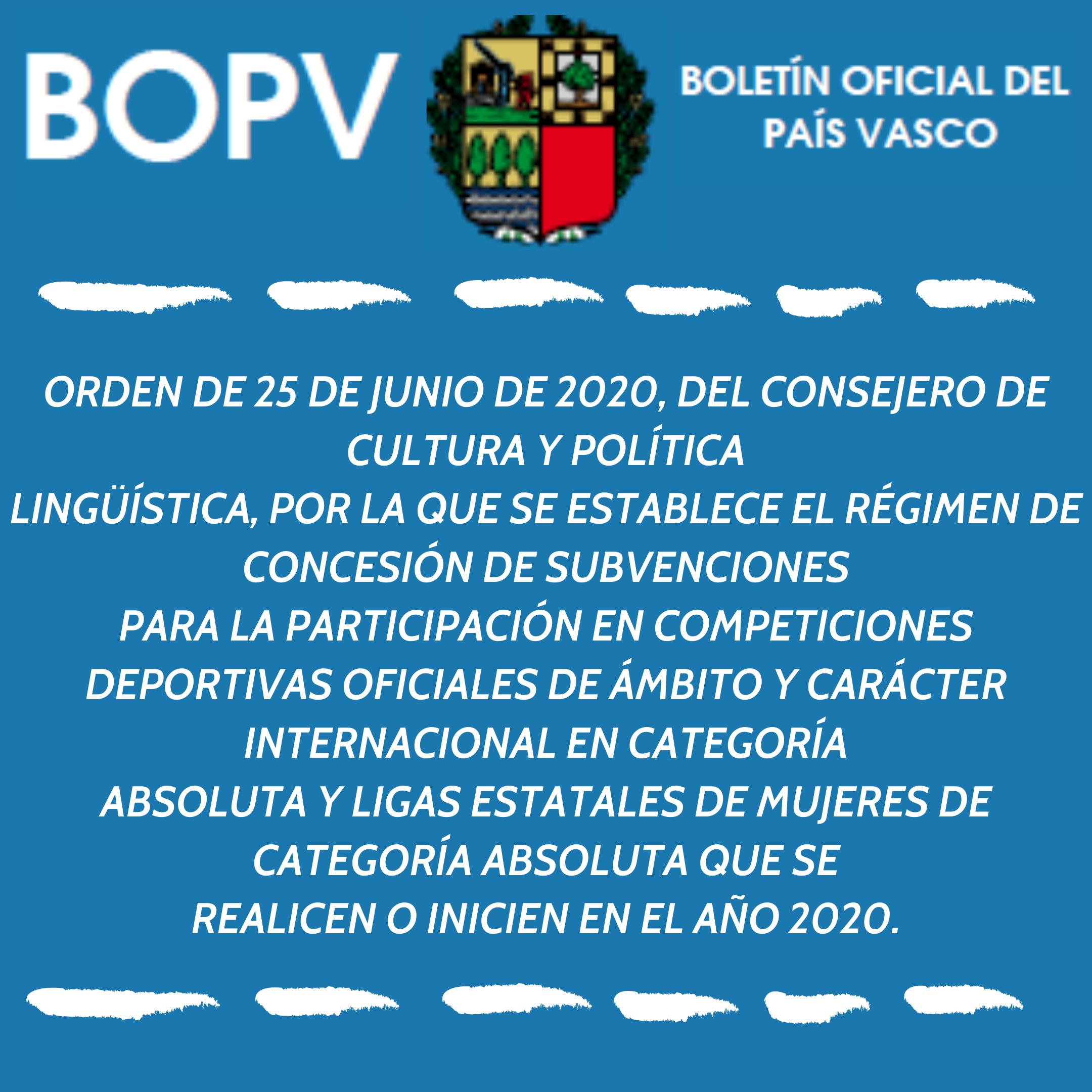 BOPV – 09 JULIO 2020
